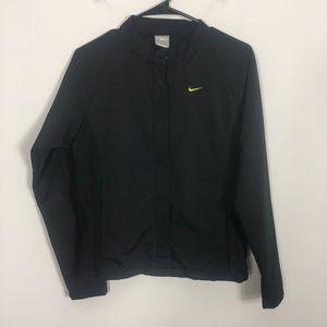 Nike Dri-Fit Black Zip Up Athletic Jacket